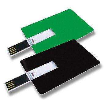 Obrázek produktu USB Flash disk ve tvaru kreditní karty, velikost 8 GB, výběr barev