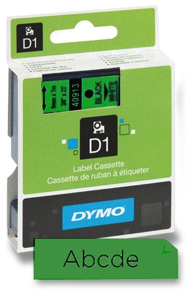 Polyesterová páska Dymo D1 9 mm x 7 m, černý tisk / zelená páska