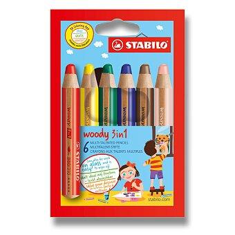 Obrázek produktu Pastelky Stabilo Woody 3 in 1 - 6 barev