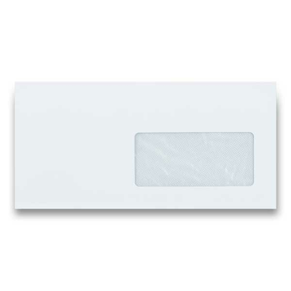 Obálka Clairefontaine DL s okénkem, samolepicí, bílá