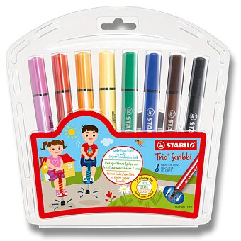 Obrázek produktu Dětské fixy Stabilo Trio Scribbi - 8 barev