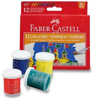 Obrázek produktu Temperové barvy Faber-Castell - 12 barev, kelímek 15 ml