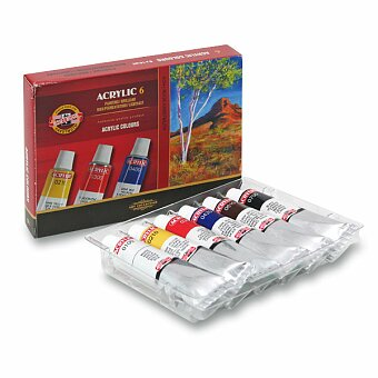 Obrázek produktu Akrylové barvy Koh-i-noor Acrylic 16271 - 6 x 16 ml