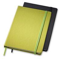 Rainbow M - linkovaný zápisník s gumičkou, výběr barev