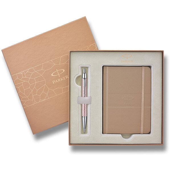 Parker IM Premium Pink Pearl sada kuličková tužka a zápisník