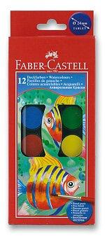 Obrázek produktu Vodové barvy Faber-Castell - 12 barev, průměr 24 mm