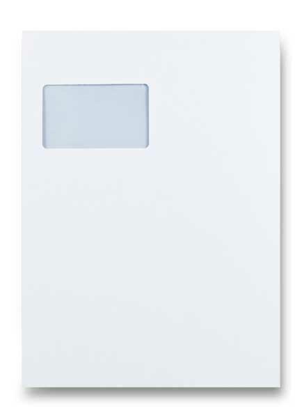 Obálka Clairefontaine C4 samolepicí, s okénkem vlevo - bílá