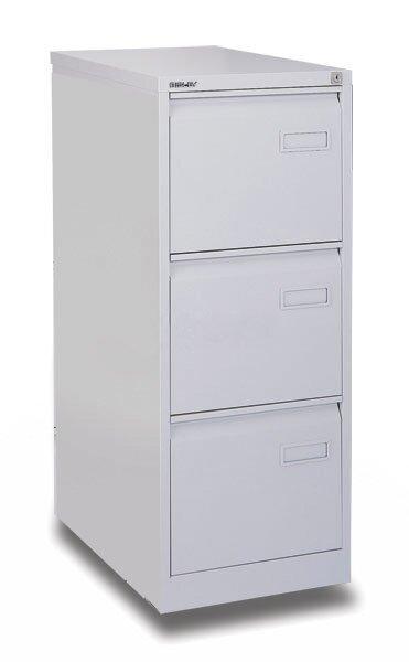 Kartotéka Bisley IPCAA 3 zásuvky, 1016 x 413 x 622 mm, šedá
