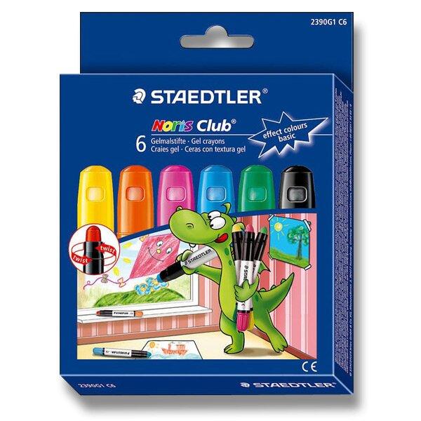 Gelové voskovky Staedtler na sklo základní, 6 barev