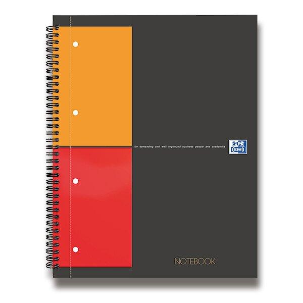 Kroužková záznamní kniha Oxford Notebook A4, 80 listů, čtverečkovaná
