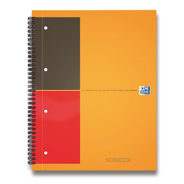 Kroužková záznamní kniha Oxford Notebook A4, 80 listů, linkovaná
