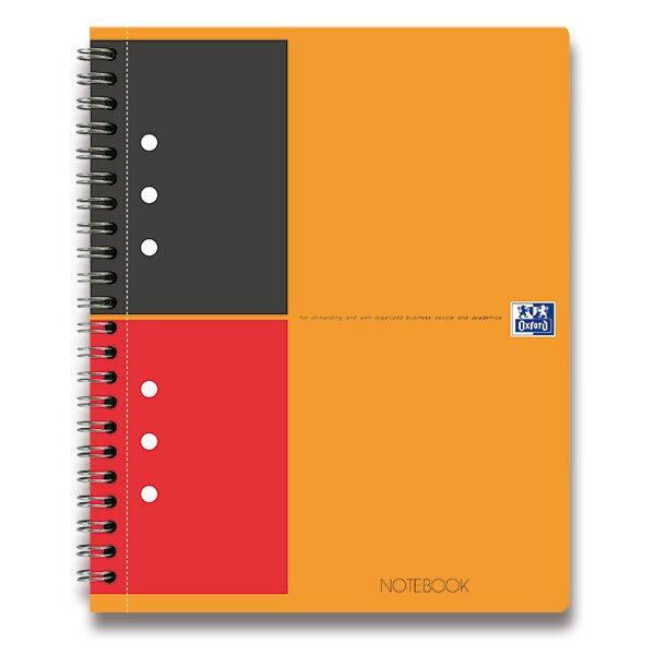 Kroužková záznamní kniha Oxford Notebook A5, 80 listů, linkovaná
