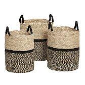 Pletené koše z mořské trávy set 3ks