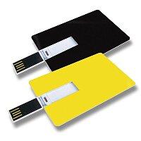 USB Flash disk ve tvaru kreditní karty, velikost 4 GB, výběr barev