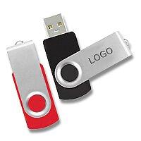 USB Flash disk otočný, velikost 4 GB, výběr barev