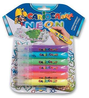 Obrázek produktu Barvy na textil Pop Fabric Paint - Neon - 6 x 10,5 ml