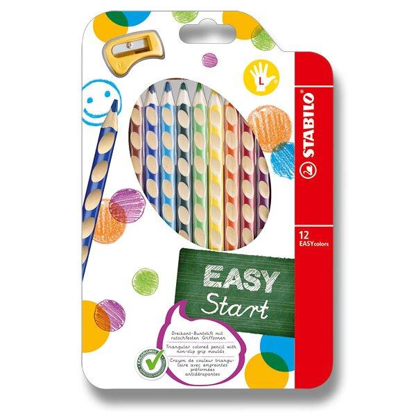 Pastelky Stabilo EASYcolors 12 barev, pro leváky