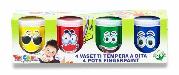 Prstové barvy Toy Color 4 barvy, 80 ml
