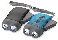 Virgo - LED svítilna s ručním dynamem, výběr barev