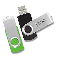 USB Flash disk otočný, velikost 8 GB, výběr barev