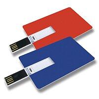 USB Flash disk ve tvaru kreditní karty, velikost 2 GB, výběr barev