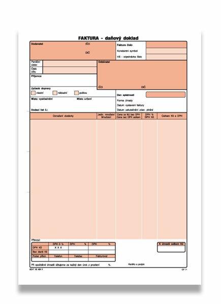 Faktura Optys OPT1071 A4, samopropis