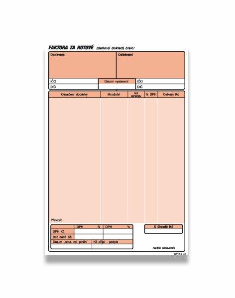 Faktura za hotové Optys OPT1073 A5, samopropis