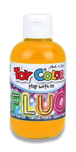 Temperová barva Ready TemperaFluo - 250 ml oranžová