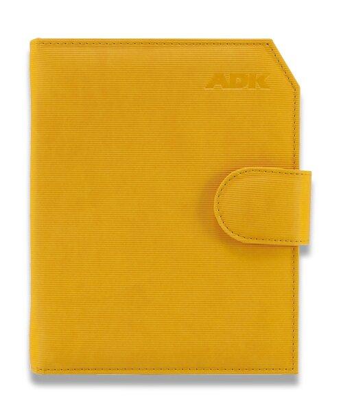 Plánovací diář ADK Praktik A5, žlutý