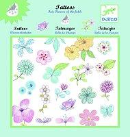 Tetování Djeco - Květiny a motýli