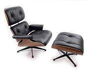 Křeslo s podnožkou Vitra Lounge Chair