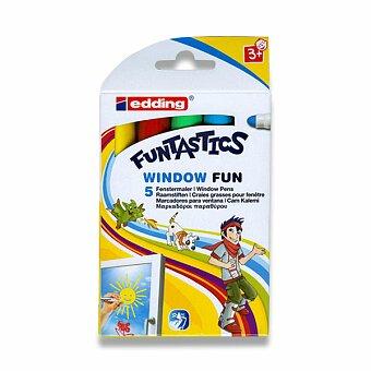 Obrázek produktu Popisovač Edding Funtastics Window - základní barvy, 5 barev