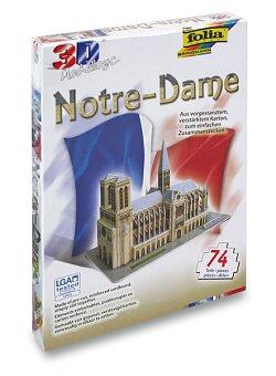 Obrázek produktu 3D stavebnice Folia - Notre-Dame Paříž - 74 dílků
