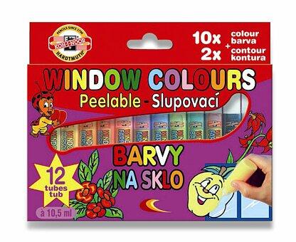 Obrázek produktu Barvy na sklo Koh-i-noor 9739 - 10 barev a 2 kontury