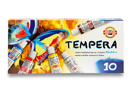 Obrázek produktu Temperové barvy Koh-i-noor 162548 - 10 barev, tuba 16 ml