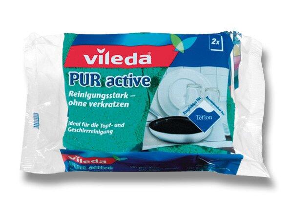 Houbička na nádobí Vileda Pur Active 2 ks