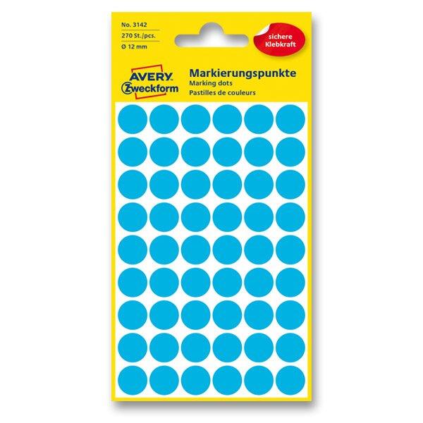Kulaté etikety Avery Zweckform modré