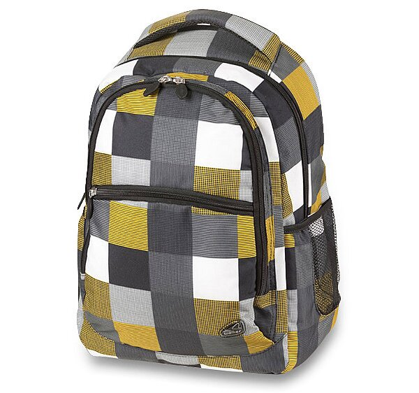 Školní batoh Walker Classic žlutý, kostkovaný