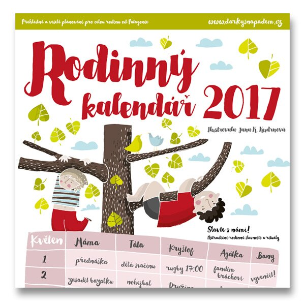Rodinný kalendář 2017 přehledné plánování pro celou rodinu