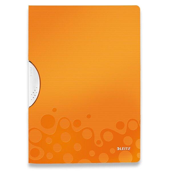 Plastový rychlovazač s klipem Leitz Wow oranžový