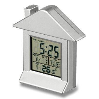 Obrázek produktu Villa - plastové stolní hodiny - stříbrná