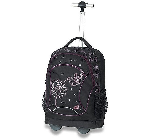 Školní batoh Walker Squizz Spring Fever (Kolibřík) s teleskopickou tyčí