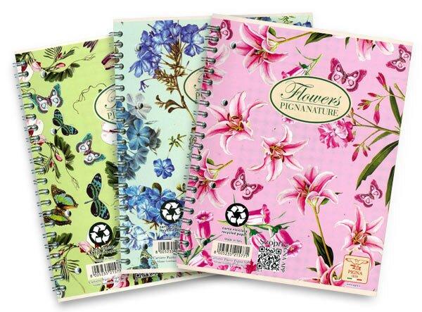 Kancelářský sešit Pigna Nature Flowers A5, linkovaný, 60 listů