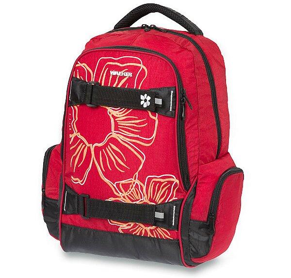 Školní batoh Walker Fun Flower červený