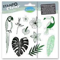 Razítka gelová Stampo Clear - Džungle
