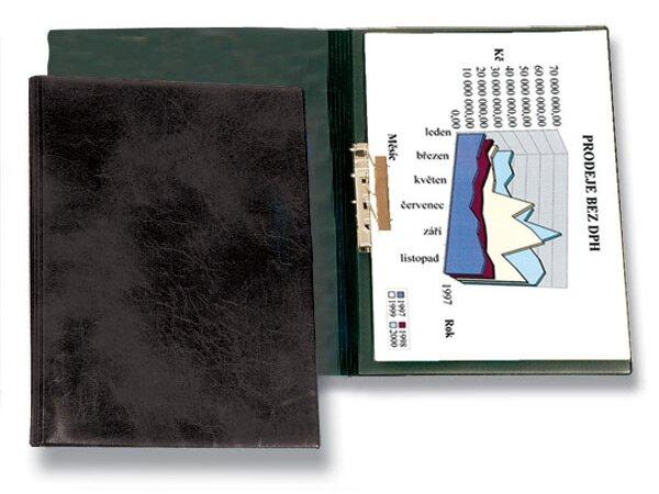 Tvrdé desky s rychlosvorkou PP Karton Xepter černé