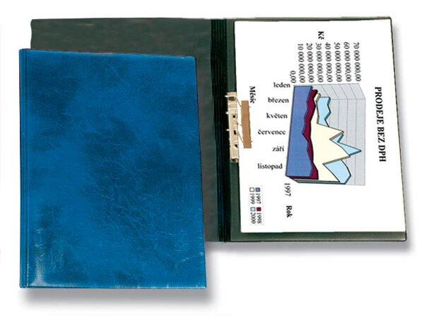 Tvrdé desky s rychlosvorkou PP Karton Xepter modré