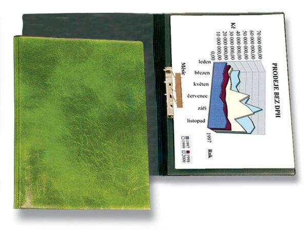 Tvrdé desky s rychlosvorkou PP Karton Xepter zelené