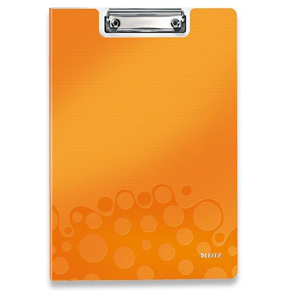 Psací desky s klipem Leitz Wow oranžová