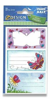Obrázek produktu Samolepicí štítky na sešity - Motýlci